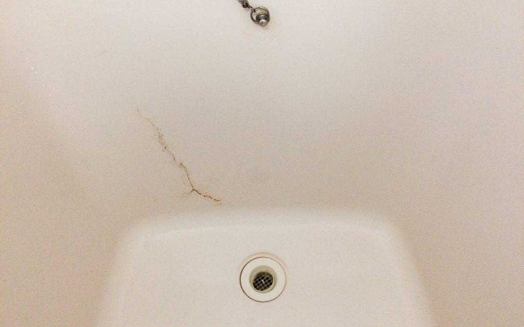 FRP浴槽割れ補修  No.170318