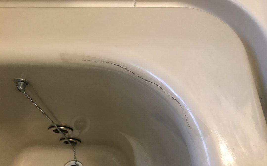 FRP浴槽ヒビ割れ補修  No.171220