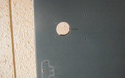 玄関ドア穴補修  No.130117