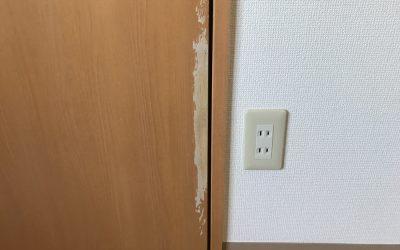 室内ドア表面剥がれ No.171110