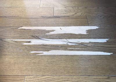 フローリング表面単板剥がれリペア補修 No.BA180721