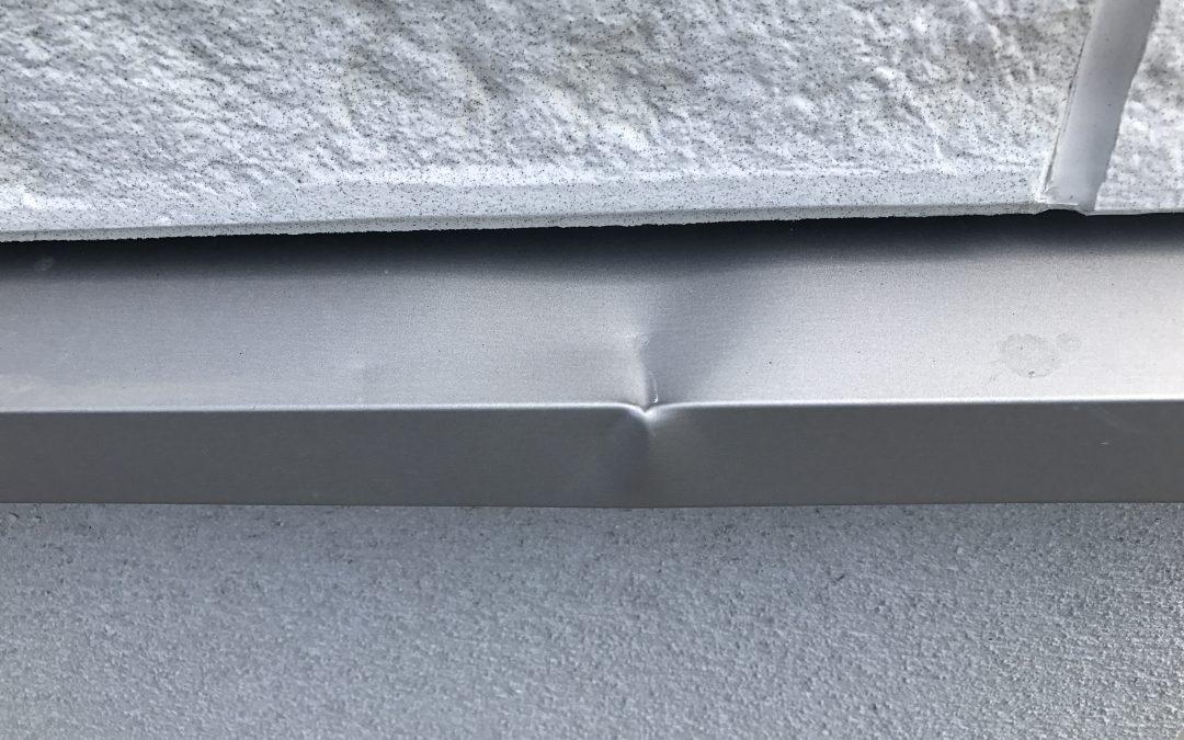 外壁アルミ水切りヘコミ補修    No.180928