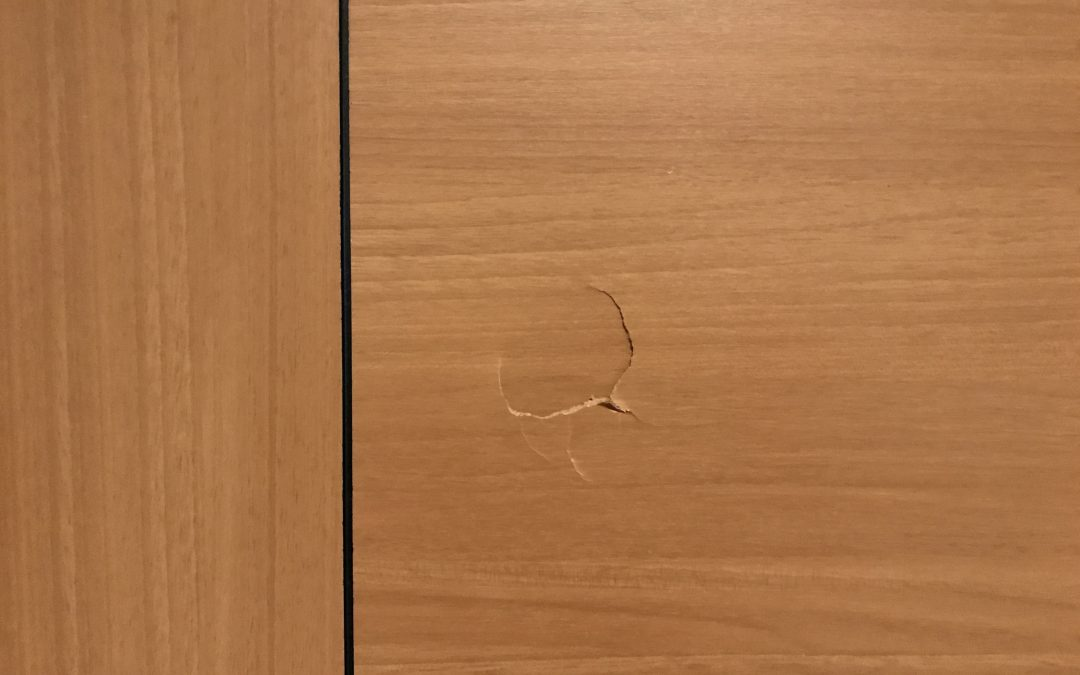 室内ドアへこみキズ  No.180930