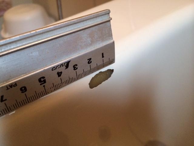FRP浴槽欠けキズ ポイントリペア補修 No.BA140627