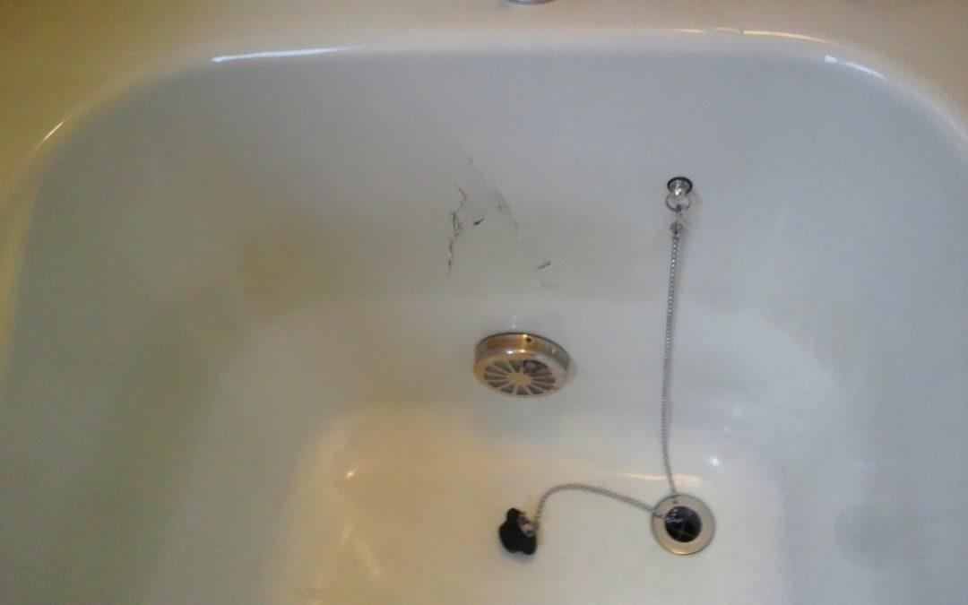 FRP浴槽割れ破損 FRP補強・リペア再生塗装コート No.BA110302