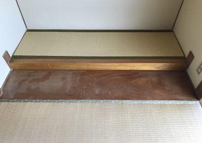 和室床板日焼けシミ リペア塗装再生 No.BA180903