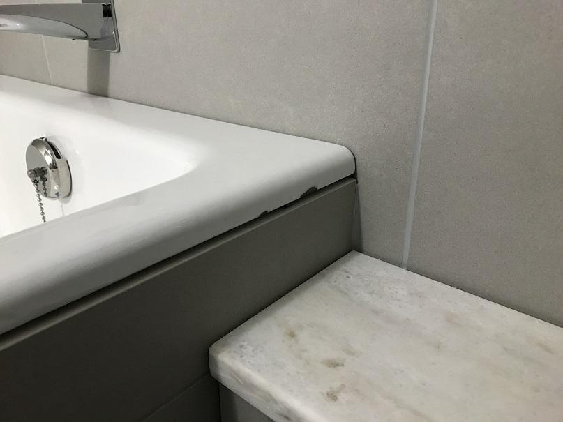 ホーロー浴槽欠けキズ リペア補修 No.BA190507