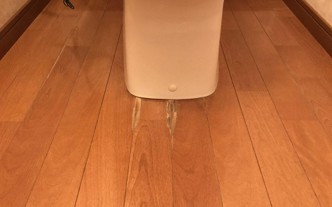トイレ床フローリング腐食シミ劣化 リペア再生補修 No.BA190702