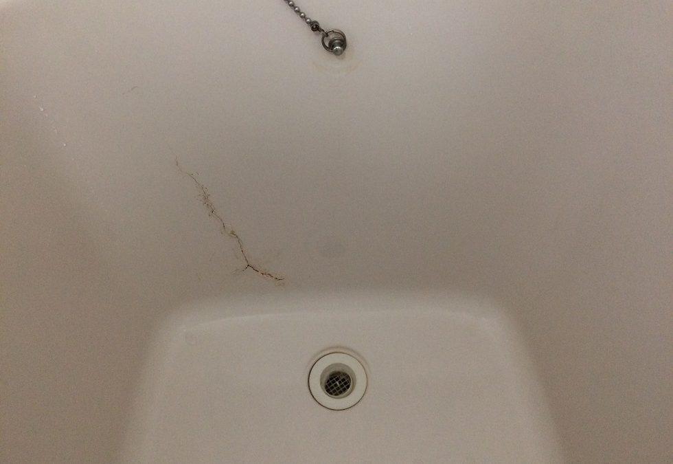 FRP浴槽ひび割れ リペア補修 No.BA170318