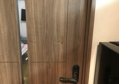 室内木製ドア 穴ヘコミキズ リペア補修 No.BA200330