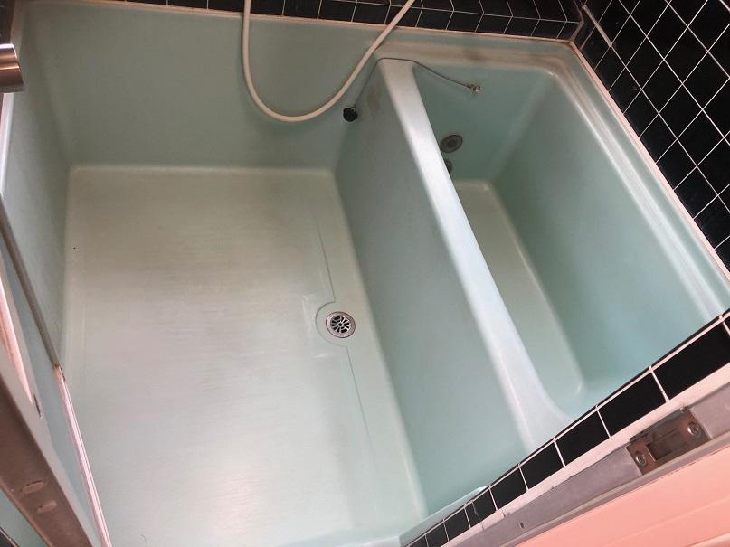 浴室ハーフユニット 再生塗装コート・洗い場パネル施工 No.BA200904