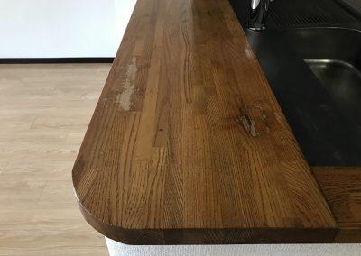 木製集成材天板カウンター表面剥がれリペア再生 No.BA200819