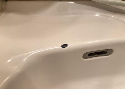 洗面台(ホーロー製)欠けキズ リペア補修 No.BA210610